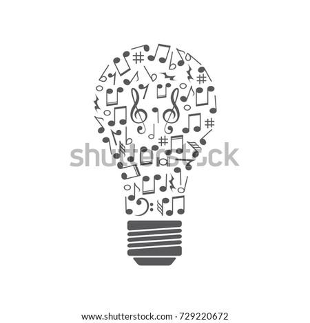 music idea bulb created by