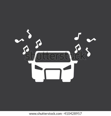 music in the car icon