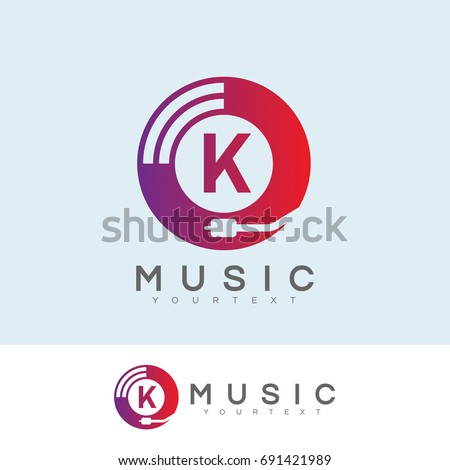 music initial letter k logo