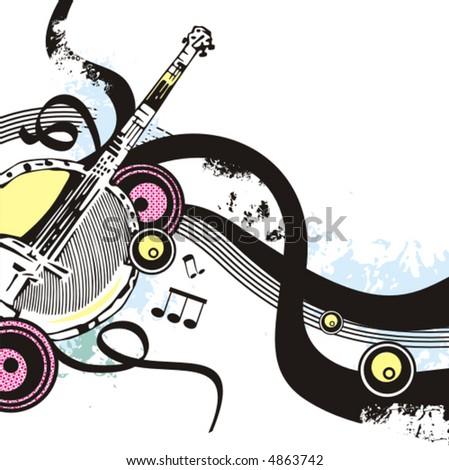 Cartoon Instruments Clipart Instruments Banjo Clipart