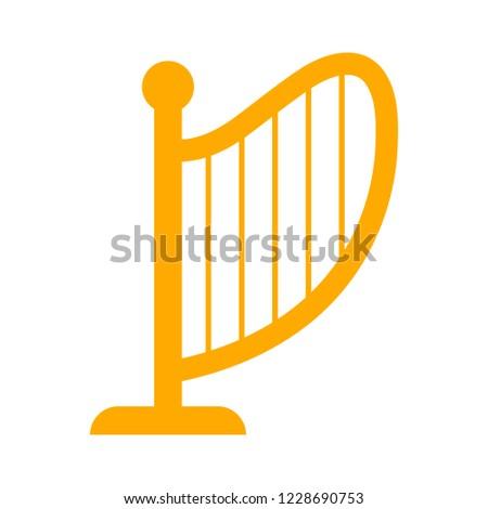music instrument symbol. sound musical harp