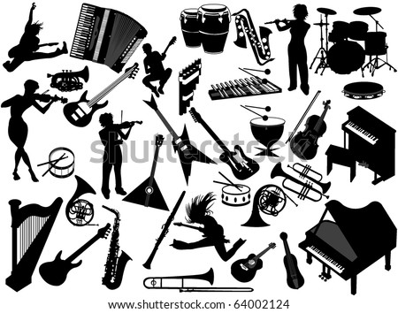 stock vector : Music instruments