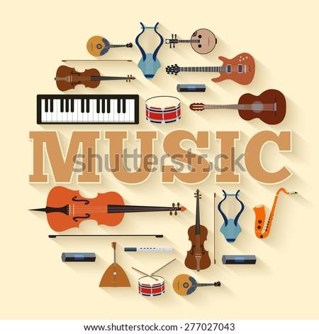 music instruments circle
