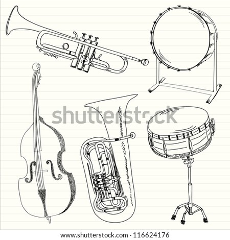 Music instruments collection Vector illustration