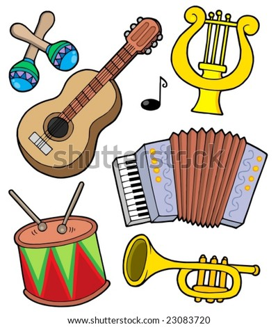 Music instruments collection 1 - vector illustration.