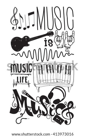 music is life prefect set with