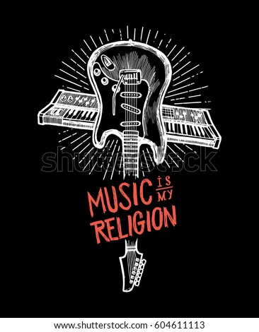 music is my religion   crossed