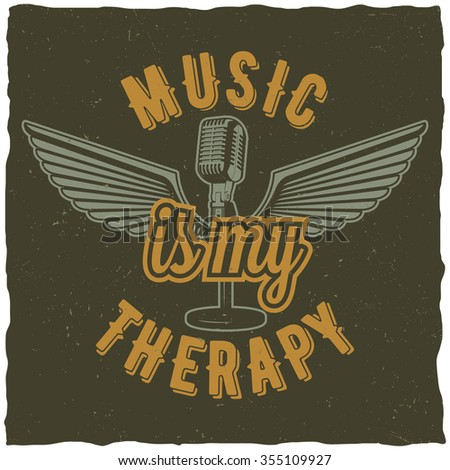 music is my therapy label