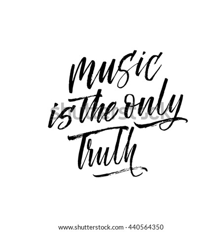 music is the only truth card