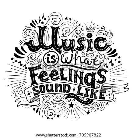 Typographic Music Quote Poster Download Free Vector Art Stock