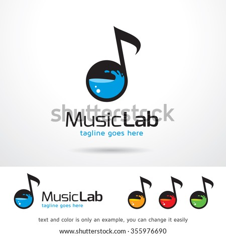 music lab logo template design