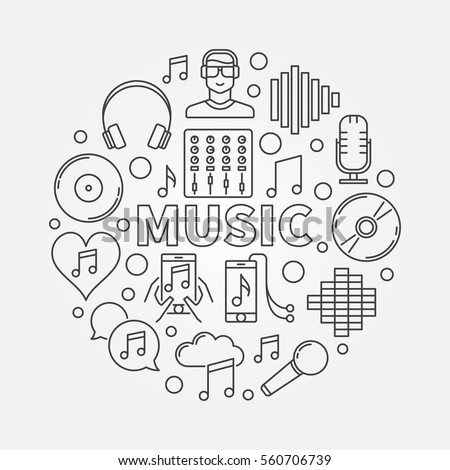 music line round illustration