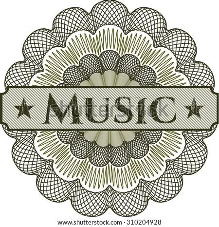 Music linear rosette