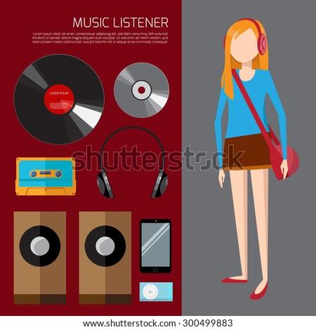 music listener illustration