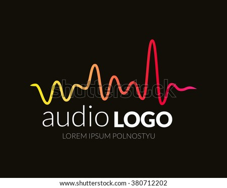 music logo concept sound wave