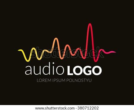 music logo concept sound wave
