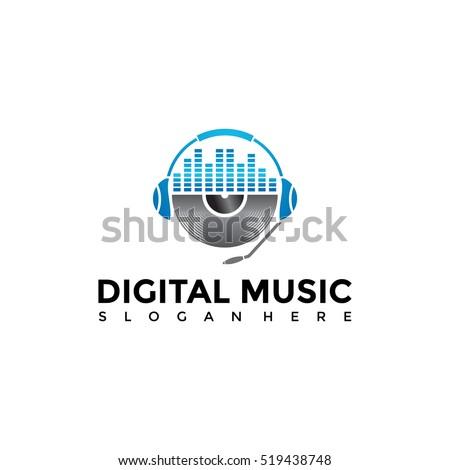 Music logo template. Vector Illustration Eps.10