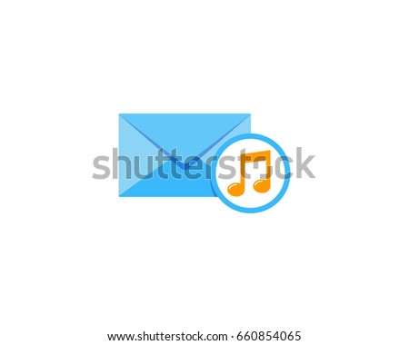 music mail icon logo design