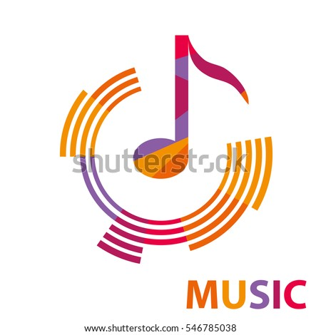 Music, music icon, note, sound, sound amplitude. Flat design, vector illustration, vector.