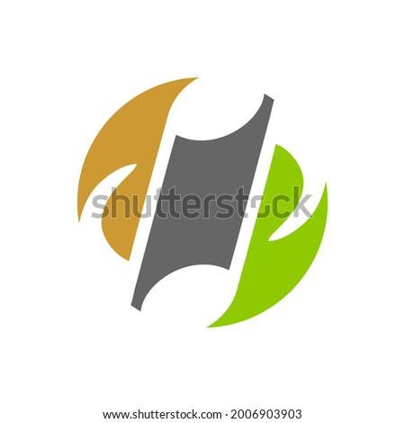 music notation logo like ying yang Photo stock ©