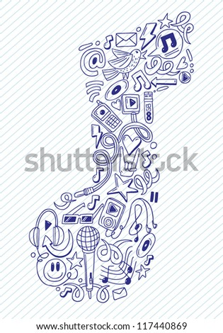 music note- doodles collection