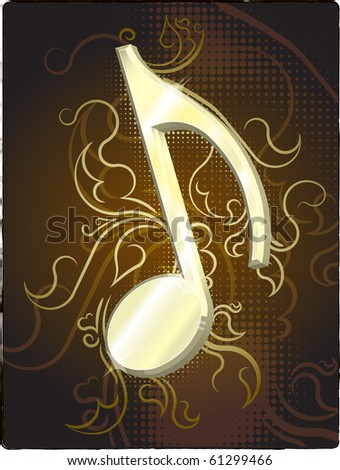 Music note for your design. EPS10 - stock vector