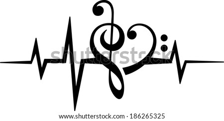 Music Clefs Heart Music Note Heart Treble