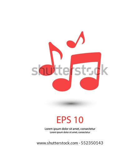 Shutterstock music note icon