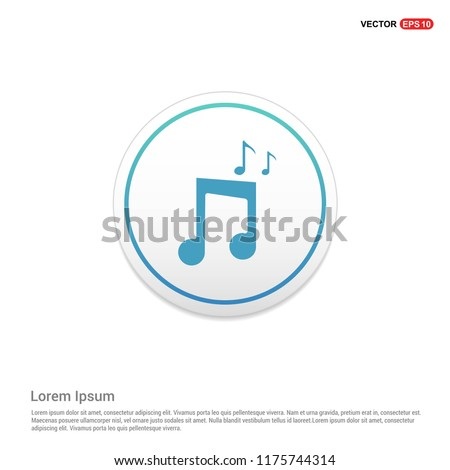 Music note icon Hexa White Background icon template - Free vector icon