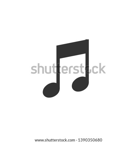 Music note icon in simple design. Vector illustration