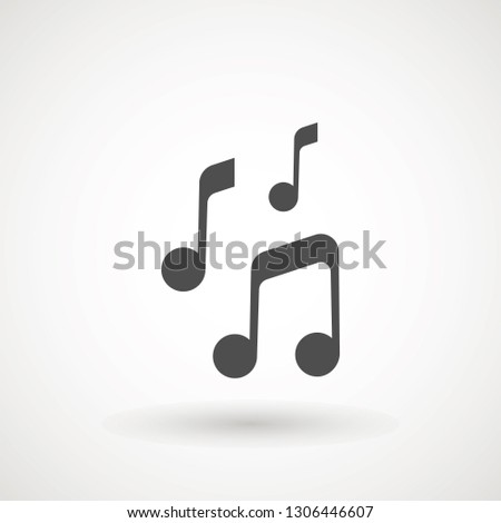 Music note icon in trendy flat style isolated on background. Music note icon page symbol for your web site design logo, app, UI. Vector illustration, EPS10. - Vector