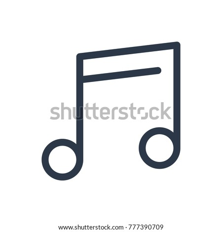 Music note icon. Isolated quaver and music note icon line style. Premium quality vector symbol drawing concept for your logo web mobile app UI design.