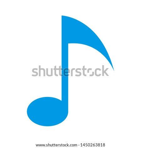 music note icon. Logo element illustration. music note design. colored collection. music note concept. Can be used in web and mobile