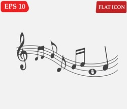 Music note Icon . Melody icons set.Vector illustration