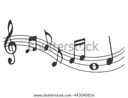 Music note Icon. Melody vector