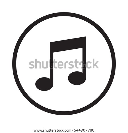 Music note icon outline transparent