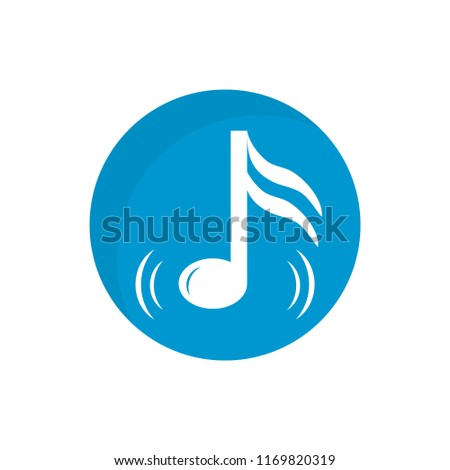 Music note icon. Vector illustration.