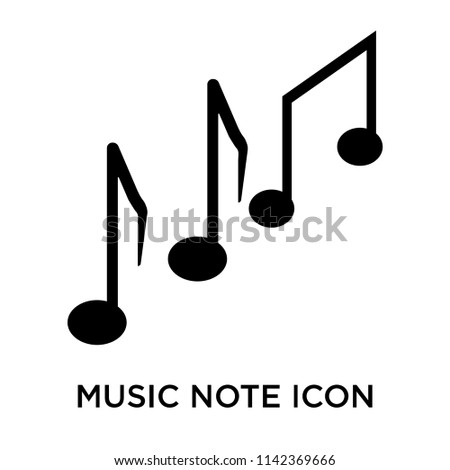 Music note icon vector isolated on white background for your web and mobile app design, Music note logo concept