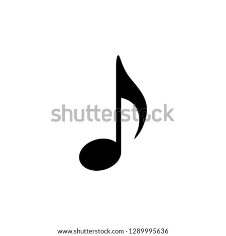 Music note icon vector. Music note Quaver symbol vector