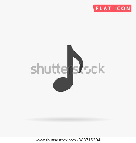 Music note Icon Vector. Simple flat symbol. Perfect Black pictogram illustration on white background.