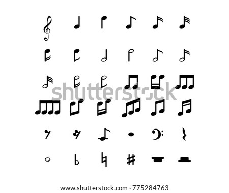 Music note Icon Vector template