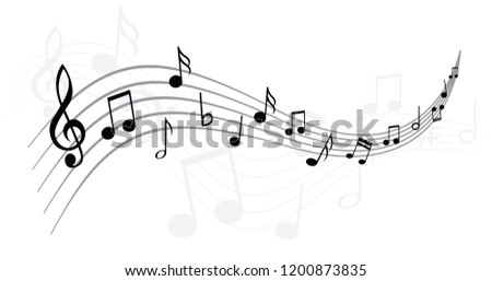 Music note musical notes waves Vector  icons background banner icon symbols shhh funny fun music art seamless pattern sound backdrop Seamless pattern concept staf Music Line stave staff podcast