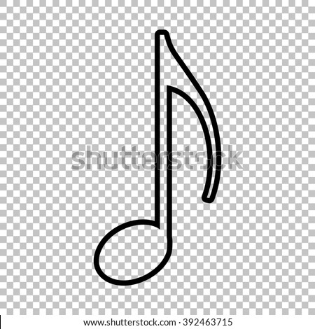 White Music Note Transparent