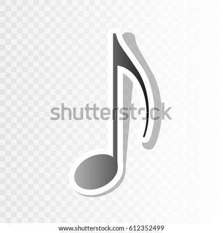 Vector Music Note 3d Metallic Music Logo Symbol Or Icon For Club