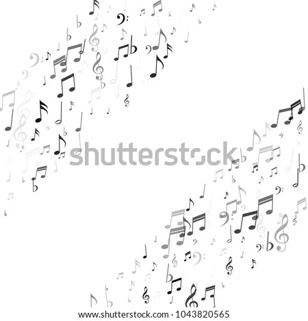 Music Note Signs and Symbols Stripes Texture. Music Fashion Pattern Design. Piano Motif Texture. Poster Print Design Pattern.