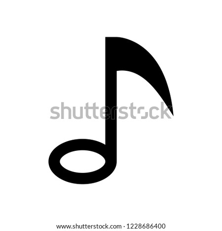 Quarter Note (Stem Facing Down) Free vector in Open office