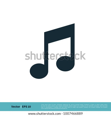 Music Note Symbol Icon Vector Logo Template