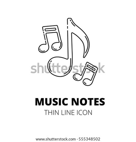 Music note. Thin line icon.