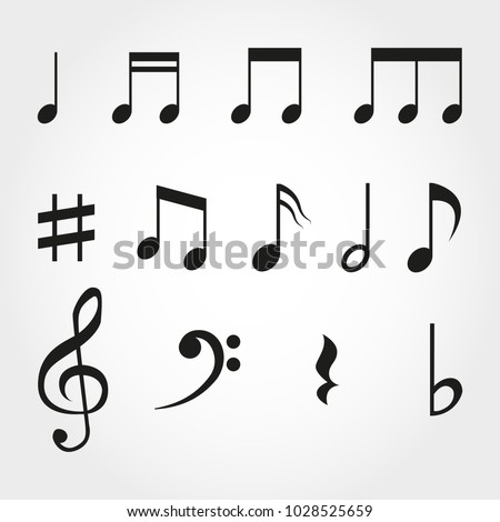 music note vintage key pictogram concert
