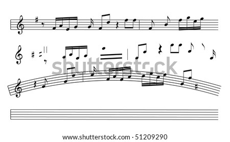 Music notes - stock vector